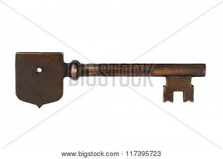 Retro key isolated on white background