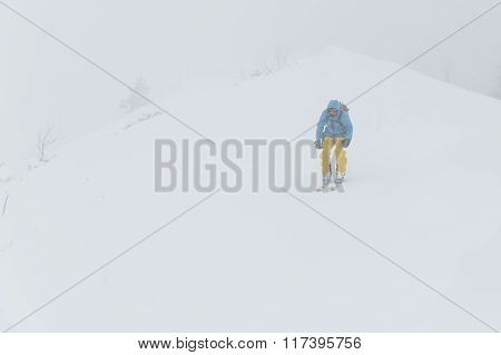 Skiing In The Fog