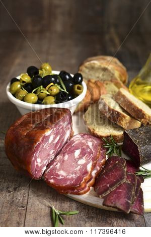 Assortment Of Italian Antipasti .