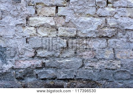Old Brick Gray Wall 1