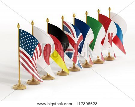 G8 Country Flags