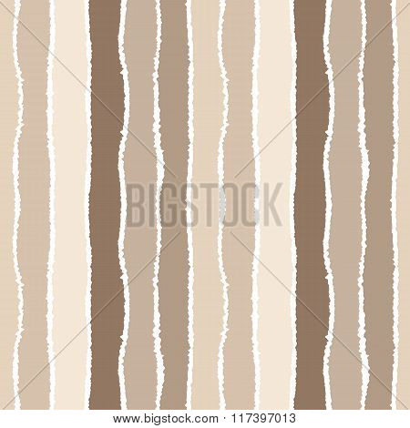 Seamless strip pattern. Vertical lines with torn paper effect. Shred edge background. Pastel, soft,