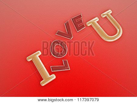 Dimensional Inscription Of I Love You