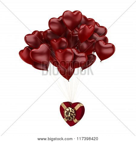 Flying Red Hearts