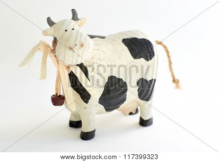 cute wooden cow toy