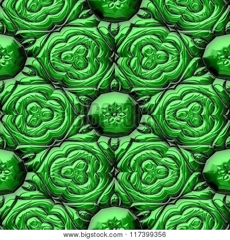 Abstract decorative iron green texture-pattern