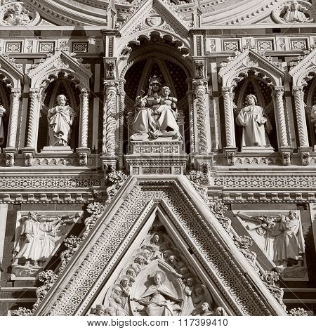 Detail From Facade Of Cathedral In Florence,italy.