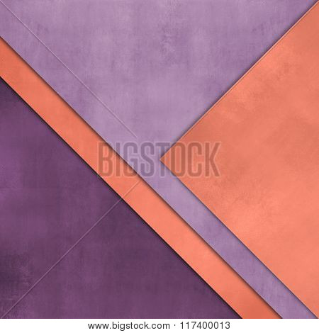 Abstract purple orange background - colorful paper layers