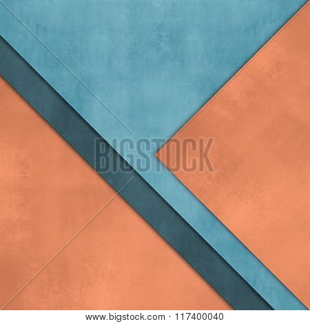 Layered paper background orange blue with overlapping pages