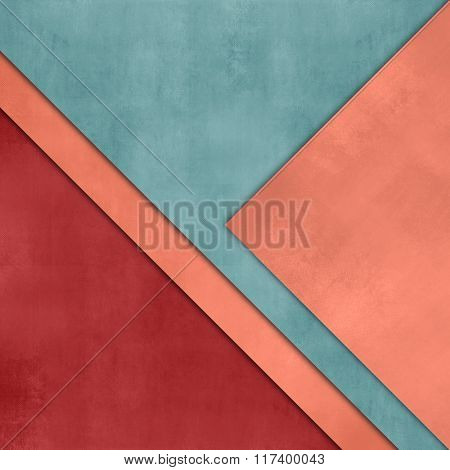 Paper background layered red green - minimalist flat cover design - abstract infographic