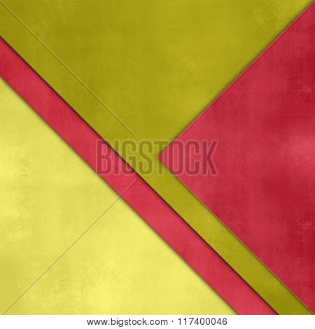 Bright background abstract with red green paper layers