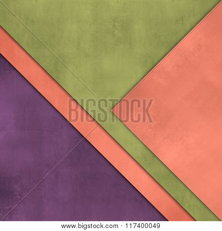 Colorful background with layered paper - abstract simple design