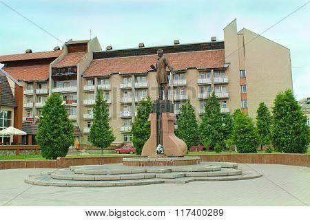 Taras Shevchenko Monument In Drohobych Town