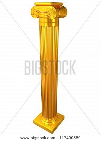 Ionic gold column