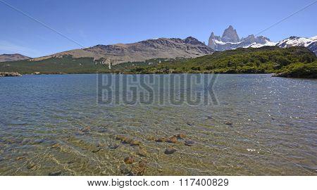 Alpine Lake In Patagonia