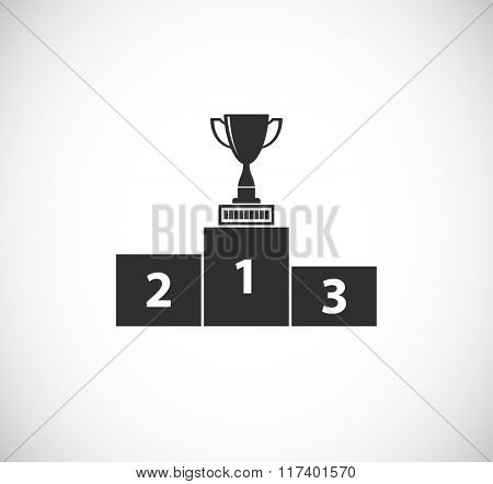 trophy cup on pedestal - web icon