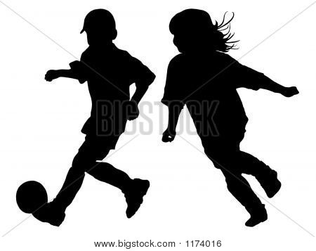Soccer Silhouettes 2