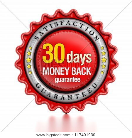 30 Days Money Back Stamp