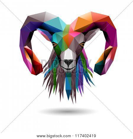 Goat's head, eps10 vector