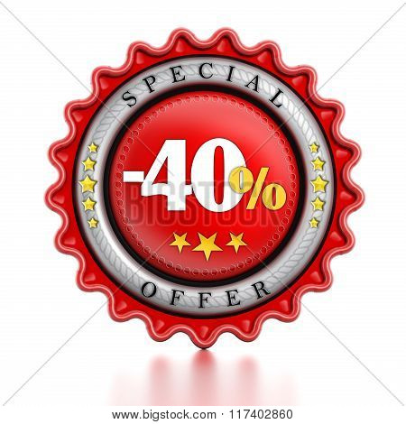 -40 Percent Sale Stamp