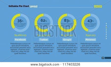 Pie charts layout slide