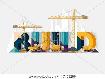 Building Construction. Typographic illustrations.
