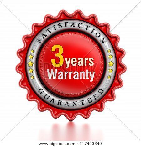 3 Year Warranty Stamp