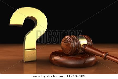 Law Legal Question Mark Symbol Concept