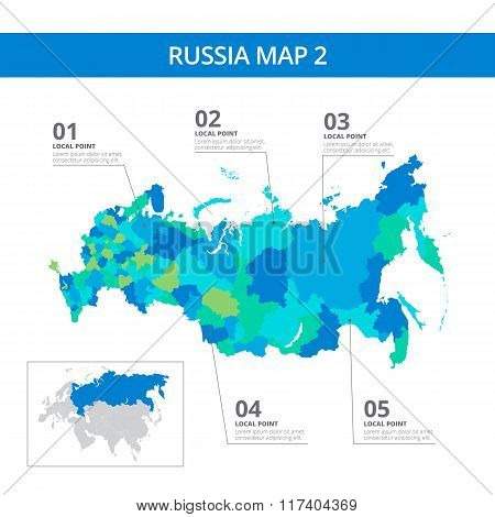 Russia map template 2