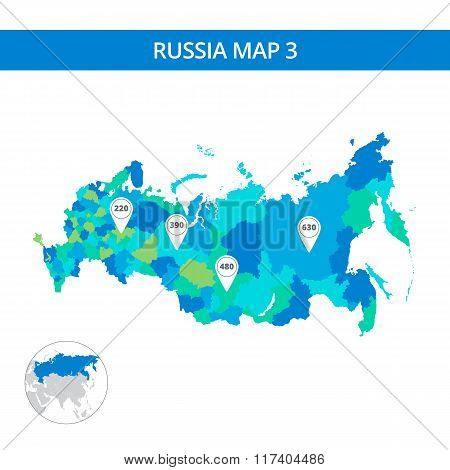 Russia map template 3