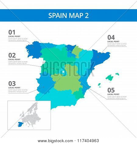 Spain map template 2