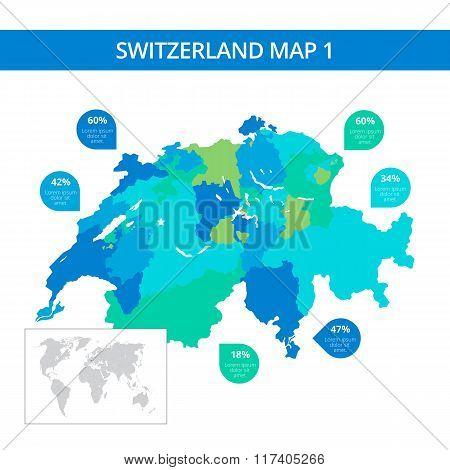 Switzerland map template 1