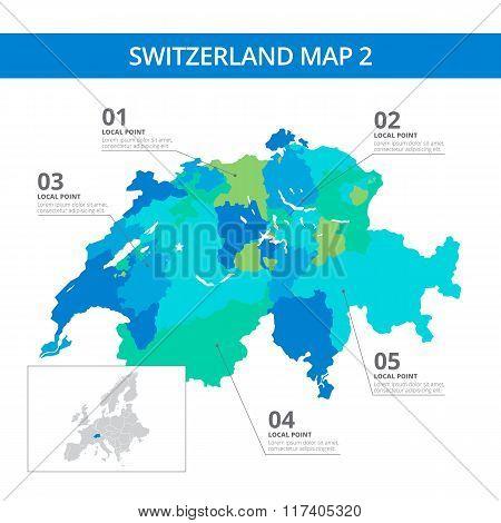 Switzerland map template 2