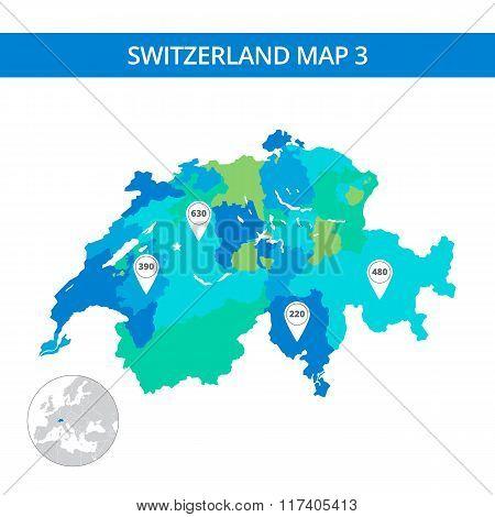 Switzerland map template 3