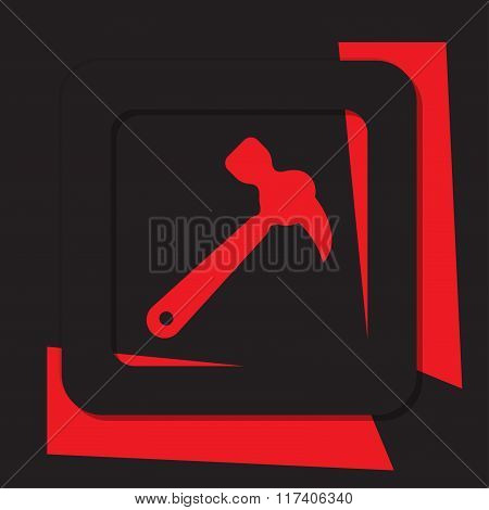 Red Icon With Black Border - Claw Hammer