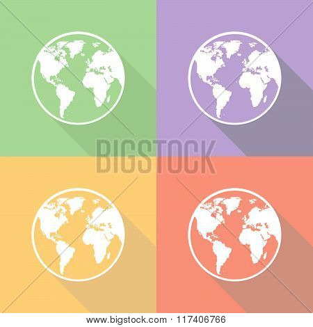 Earth Icons Set