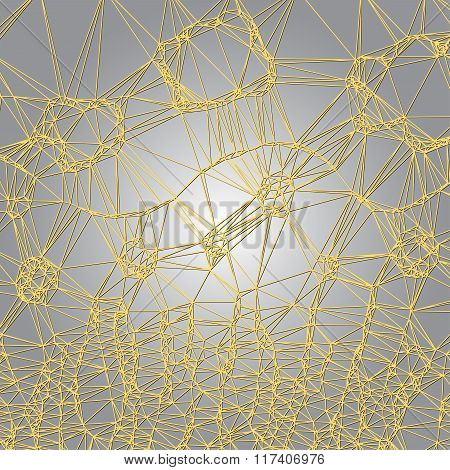 Abstract Net With Background Light