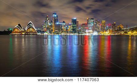Wonderful night skyline of Sydney, Australia.