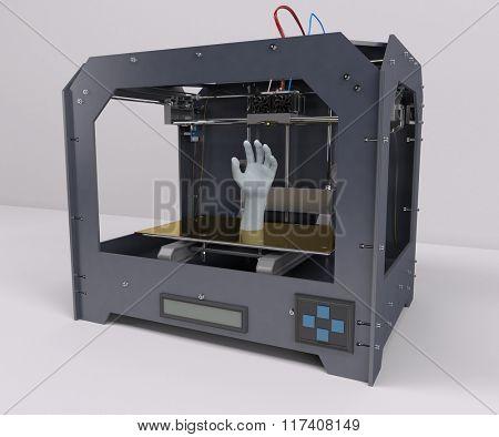 3D Render of 3 Dimensional  Printer