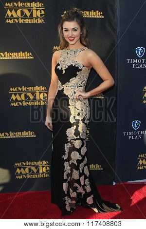 LOS ANGELES - FEB 5: Sadie Robertson at the 24th Annual MovieGuide Awards at Universal Hilton Hotel on February 5, 2016 in Universal City, Los Angeles, California