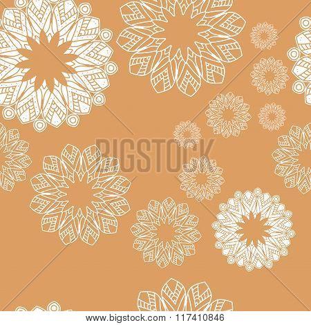 Mandala pattern. Hand drawn ethnic decorative texture vector illustration.