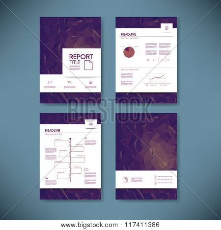 Business annual report template infographics data analysis layout for presentation. Finance icons an