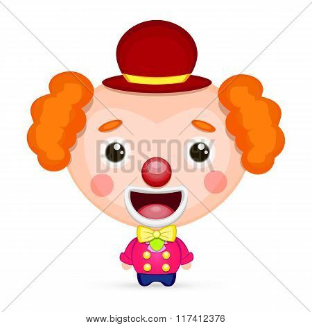 Funny Clown With Butterfly