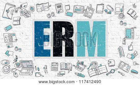 ERM in Multicolor. Doodle Design.
