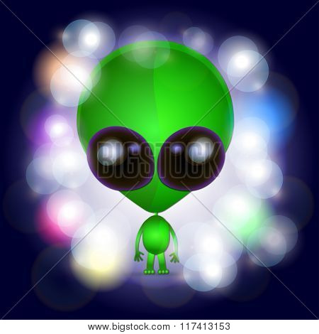 Space Alien Illustration