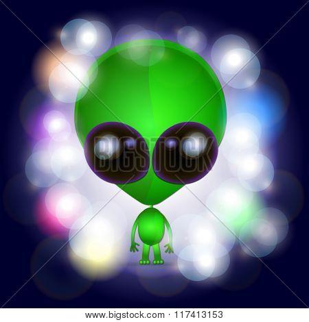 Space Alien Illustration