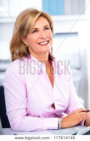 Beautiful mature business woman.