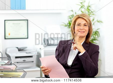 Smiling mature business woman.