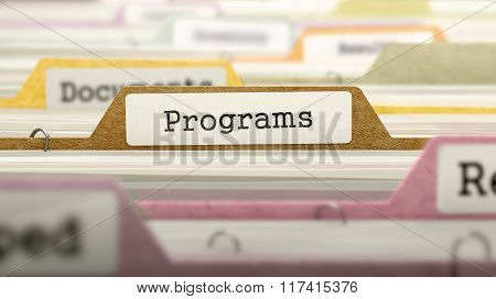 Programs - Folder Name in Directory.