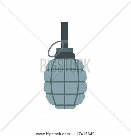 Hand grenade flat icon
